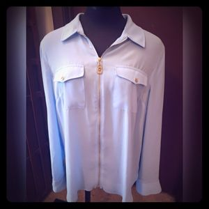 Michael Kors Light Blue Top sz XL